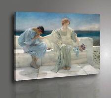 🌹 Alma Tadema Ask me no more Stampa HD su Tela Canvas Vernice Pennellate 🖌