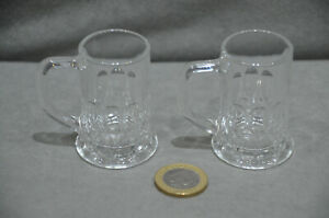 2x Mini Beer Tankard Shot Glasses With Handle Novelty Item Funny Gift 5cl 50ml
