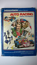 Intellivision jeu Auto Racing Mattel Electronics jeu + 2 cartes dans sa boite
