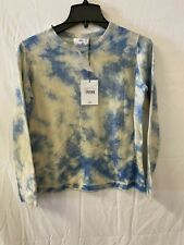 Allude Blue & White dye print Cashmere Sweater Size Small