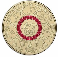 2016 TWO DOLLARS - Rio Olympic Games $2 RED Coloured Coin