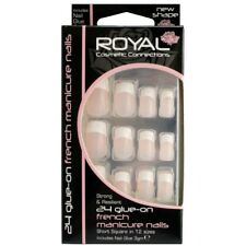 24 faux ongles & colle french manucure de Royal  24 french manicure false nails