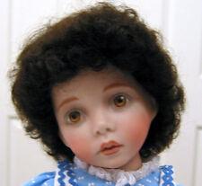 BABY LAUREN Mohair WIG Dk Brown size 8-9 short curls for baby/toddler/boy DOLL