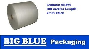 POLYFOAM Foam Wrap Roll 1200mm x 100mtr x 2mm thick wrapping protection