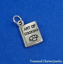 Silver COOK BOOK CHARM Baking Cooking Cookbook Recipe Book Chef PENDANT