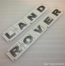 NEW LAND ROVER FREELANDER 2 BONNET BADGE DECAL LETTERS IN GREY **OEM PART**