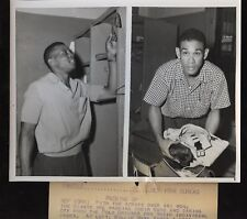 Original 1954 Willie Mays Ruben Gomez Wire Photo