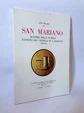 Atti sinceri di SAN MARIANO-MARTIRE DELLA NUMIDIA PATRONO DEL CAST. DI S.MARIANO