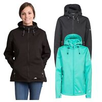 Trespass Marsa Women Soft Shell Jacket Windproof In Black & Green