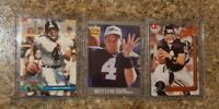 (3) Brett Favre 1991 Stadium Club Ultra Update Action Packed Rookie card lot RC