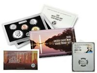 2020 SILVER PROOF SET w/ FIRST W REVERSE PF NICKEL, NGC REV PF69, FIRST RELEASES