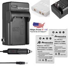 2x EN-EL5 Battery + Charger for Nikon Coolpix P80 P90 P100 P500 P510 P520 P530 U