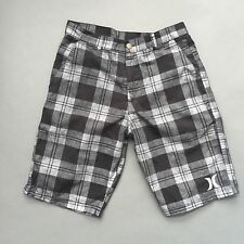 Men's HURLEY Flat Front Casual/Walking Shorts, Black White Gray Size 30 32 EUC