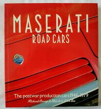 Maserati Road Cars The Postwar Production cars 1946 - 1979 Crump de la Rive Box