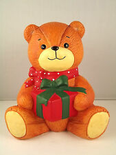 Lucy and Me Bear Bank Enesco Figurine 1980 Ceramic Hand Painted 5.5 inches Tall