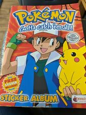 More details for merlin pokémon sticker book with wallchart 1999 complete collection