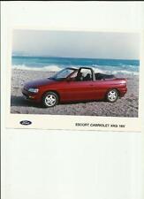 "FORD ESCORT CABRIOLET XR3i  16v   PRESS PHOTO ""sales brochure related"""