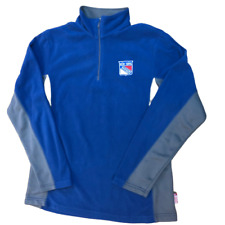 Majestic New York Rangers Therma Base 1/4 Zip Up Lightweight Pullover Size Large