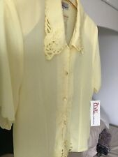 Ladies Size 12 Pearl yellow Blouse