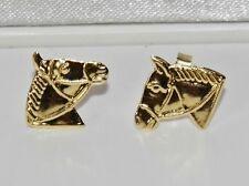 9ct Gold Horse Equestrian Stud Earrings
