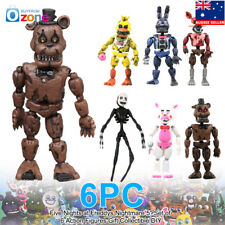 """Five Nights at Freddys Nightmare 5"""" Set of 6 Action Figures Gift"""