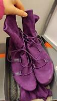 ARCHE purple flat boots lace up ankle boots lace up boots EU38 UK5 US7.5