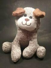 "Animal Adventure Sweater Knit Sock Bear Dog Plush Brown Sewn Eyes EUC 2016 8"""