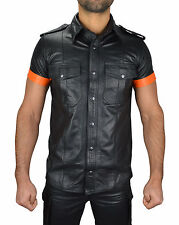 awanstar  Lederhemd Glattesleder mit absätze,Leather shirt,Leder hemd,lederweste