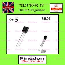 5 x 78L05 LM78L05 5 volt 100mA Linear voltage regulator TO92 UK Seller