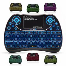 ANEWKODI Mini Wireless Keyboard, Touchpad Mouse Combo with Backlit 2.4GH