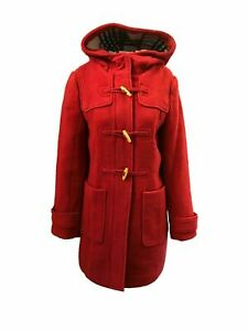 Marks and Spencer M&S Ladies Womens Duffle Hooded Warm Wool Blend Coat 8-22 Red