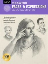 Drawing Faces & Expressions : Learn to Draw Step by Step, Paperback by Cardac...