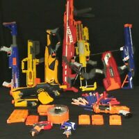Nerf Dart Gun Lot N-Strike, MEGA Centurion Deploy Triad Thunder bow HUGE Toy Lot