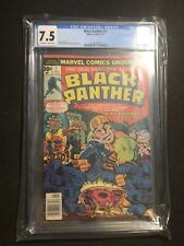 BLACK PANTHER #1 CGC 7.5 1ST SOLO Title APPEARANCE Jack Kirby Marvel Comics 1977