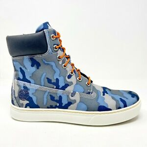 Timberland Earthkeepers 2.0 Cupsole 6 inch Blue Camo Sneaker Boots 6957R