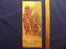 1970's Travel Brochure Budweiser Beer Clydesdales Horses Anheuser Busch Wagon