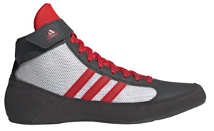 adidas Wrestling Shoes Havoc Boxing Boots Trainers Pumps Mens Grey/Red/White