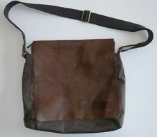 3368f91c84a7 Roots Canada Messenger Bag Brown Nylon tribe leather A Must Have Buy it  FASTSHIP