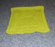 Brand New Hand Knit I Love My Corgi Dog Green Dish Cloth For Dog Rescue Charity