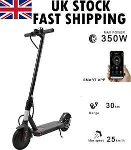 350W Adult Electric Scooter Folding E-Scooter 36V 18 Mile Range 8.5inch Tyres UK