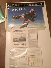 Vintage KP Avia BH-3 1:72 Scale Plastic Model Kit #22 Open Box