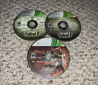 Fallout 3 Game of the Year & New Vegas Xbox 360 Lot Bundle