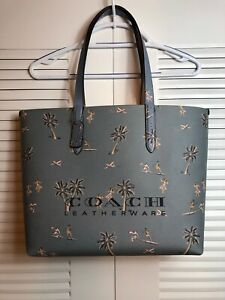 COACH HIGHLINE TOTE WITH HAWAIIAN PRINT NWT