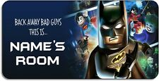 Personalised 'Lego Batman' Aluminium Door Name Plaque
