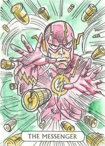 2016 Crypto Justice League The Flash The Messenger Tarot Sketch Card Elvis Moura