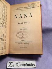 Livre Les Rougon Macquart Nana Émile Zola Fasquelle Alliance Française