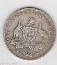 1924 Australian Silver TWO Shilling Florin 2/- TWO BOB KING GEORGE V (very Nice)