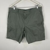 Sportscraft Mens Shorts 36 Green Zip Closure Pockets Bermuda