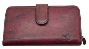 Buxton Heiress womens wallet cowhide leather burgundy red checkbook ensemble