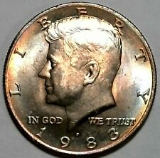 1983 P Kennedy Half Dollar Beautiful Tone Cladding Error US Mint Coin UC